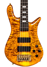 Spector Euro bass in tiger's eye finish