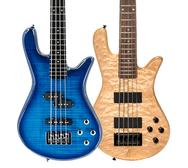 Two Legend Series basses side-by-side