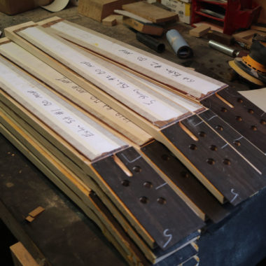 Spector bass necks in workshop