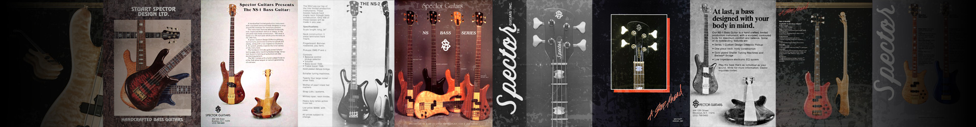 banner of history of Spector basses