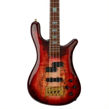body of NS2 Faded Black Cherry electric bass