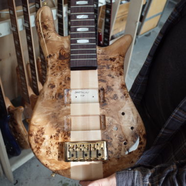 body of unfinished Spector bass