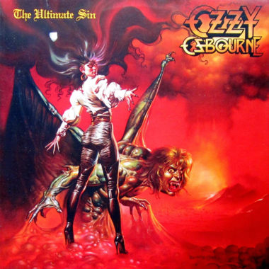 Ozzy Ozbourne The Ultimate Sin album cover