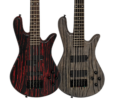 NS Pulse basses, close up on bodies